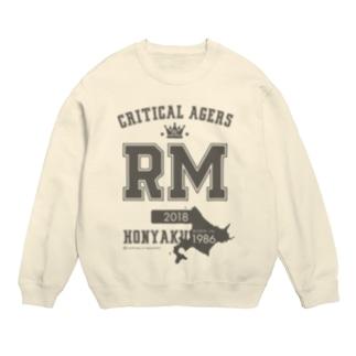 CRITICAL AGERS RM(グレーロゴ) Sweats