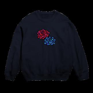 にじのかけらの赤いバラ青い薔薇 Sweats
