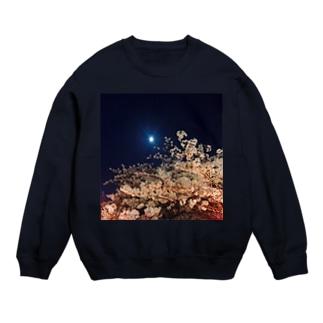夜桜と満月 Sweats