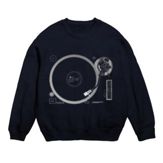 悲しいブルースのレコード(反転色) スウェット