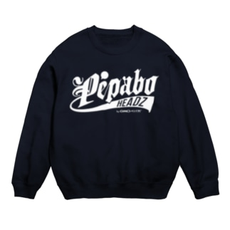 PEABO HEADZ White Logo Sweats