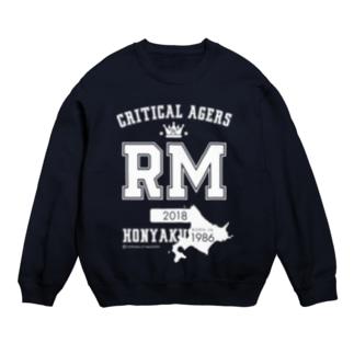 CRITICAL AGERS RM(ホワイトロゴ) Sweats