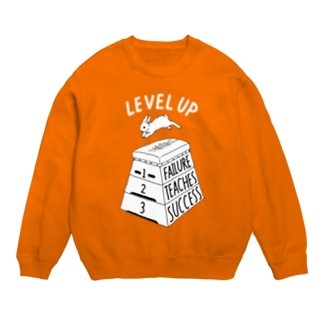 LEVEL UP FTS しろいロゴ Sweats