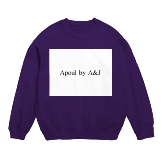 Apoul by A&J (black logo_white) スウェット
