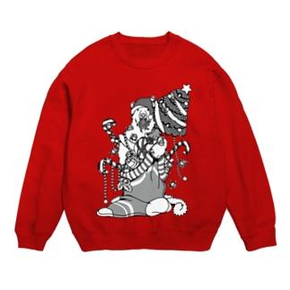 クリスマスだ!シロクマだ! (メニー?クリスマス)-モノクロ Sweats