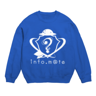 infomateのinfo.m@te -インフォメイト-白抜きロゴスウェット Sweats