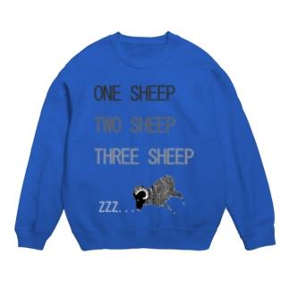 NIKORASU GOのユーモアデザイン「羊がひつじが一匹」 Sweats