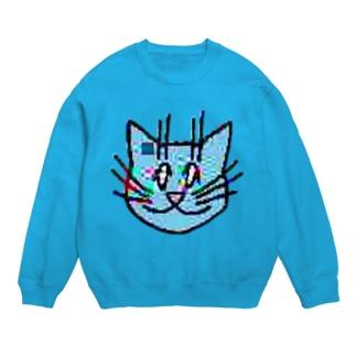 画質悪猫 Sweatshirts スウェット