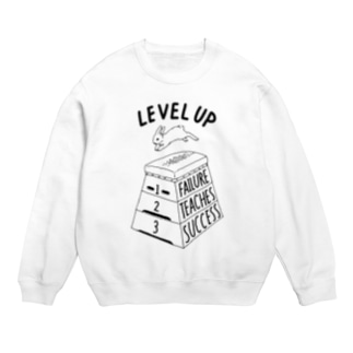 LEVEL UP FTS くろいロゴ Sweats