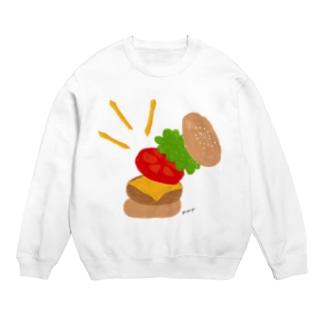 楽しくなっちゃうハンバーガー スウェット