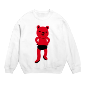 潔い姿の熊(赤) スウェット