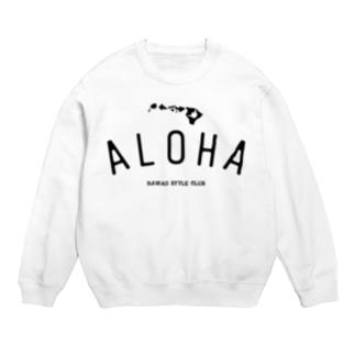 ALOHA ISLANDS  BLK LOGO Sweats