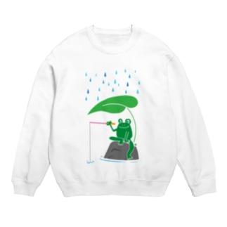カエルが雨の中釣りをするでケロ Sweats