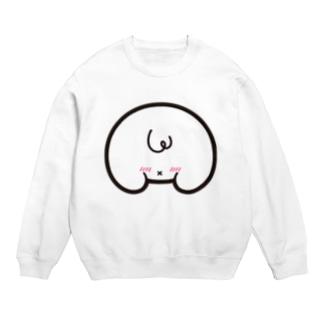 「オシリかカオかちゃん」 ロゴ Sweats