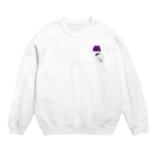 アネモネ紫-淡色ベース- Sweats