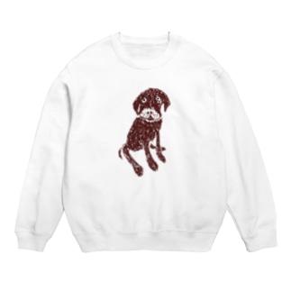 チョコラブデザインTシャツ「それでおすわり?」 Sweats