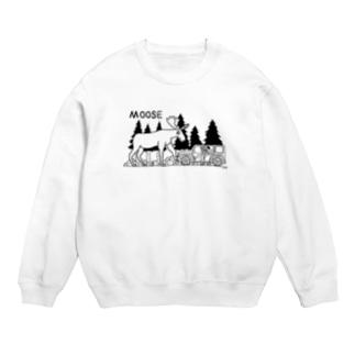 ヘラジカ moose (白黒) サコッシュ Sweats