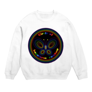 NK♥LOVEのCircle of happiness rainbow<black butterfly> Sweats