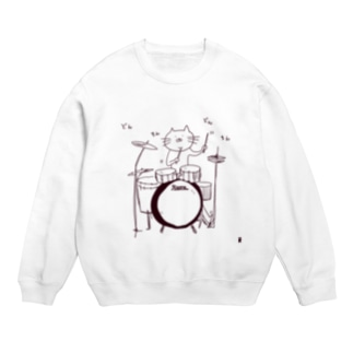 ドラムを叩く猫 Sweats