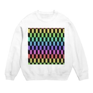 Yagasuri(Pastel Rainbow - Black) Sweats