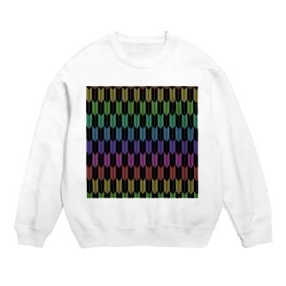 Yagasuri(Vintage Rainbow - Black) Sweats