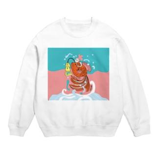 跳ね金魚(背景カラー) Sweats