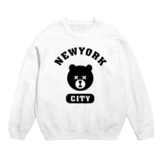 NYC BEAR ニューヨークシティベアー 熊 カレッジロゴ Sweats