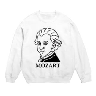 モーツアルト Mozart イラスト 音楽家 偉人アート モーツァルト ストリートファッション Sweats