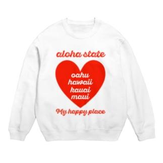 aloha state (ハート) Sweats