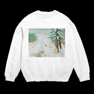 ひつじ好きの未草のギャラリーの羊雪季節 Sweats