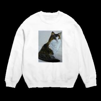 タコ夜勤@スタンプ制作致しますの猫のデザイン 油絵 Sweats