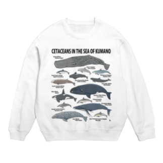 くじら屋の南紀のイルカ・クジラ(淡色下地用) Sweats