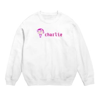 charlolのロゴcharlie Sweats