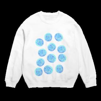 水草のブルー玉いっぱい Sweats