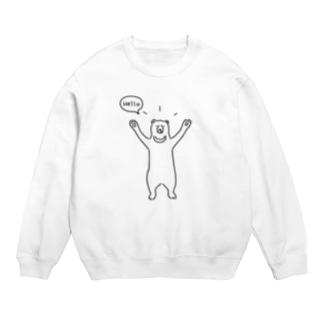 Hello bear ハロークマ 熊 動物イラスト Sweats