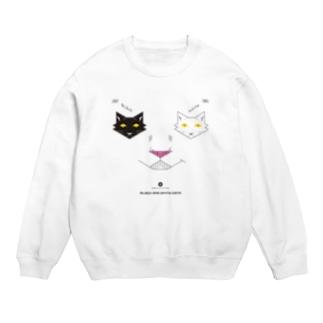 白黒猫ニヤリ2015 スウェット