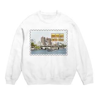 東京都:隅田川と水上バス★白地の製品だけご利用ください!! Tokyo: Sumida river & water bus★Recommend for white base product only !! Sweats