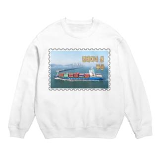 大韓民国:コンテナ船★白地の製品だけご利用ください!! Korea: Container ship/ Busan★Recommend for white base products only !! Sweats