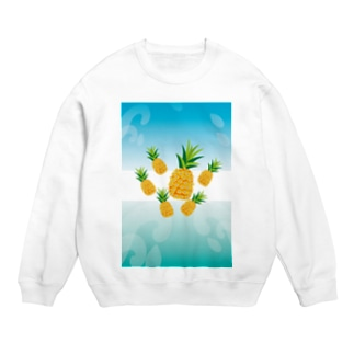 パイナップルが可愛いフルーツのイラスト Sweats