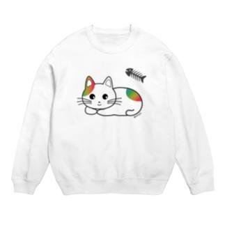 詩愛(しおん)猫コラボ商品 (レインボー) Sweats