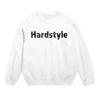 Hardstyleロゴスウェット 黒文字 Sweats