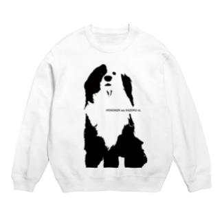 片パンダのボーダーコリーMIX Sweats