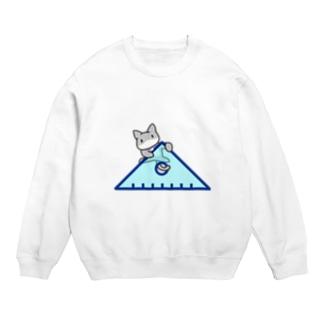 三角定規によじのぼるネコ Sweats