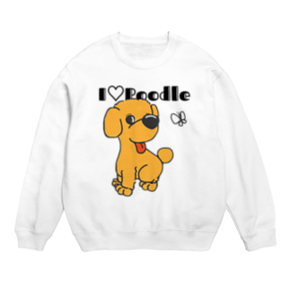 Hi-BoのI Love Poodle Sweats