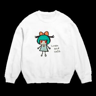 Loose and cuteのリボンちゃん Sweats