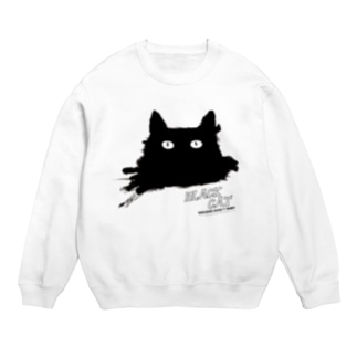 BLACK CATシリーズ(ネコ/猫) Sweats