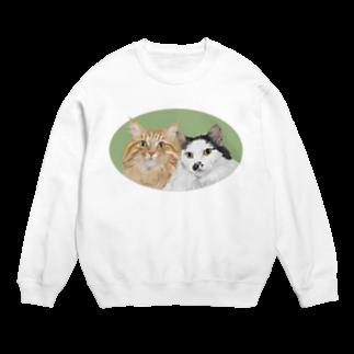 kinako-japanの猫社長さん 猫専務さん 緑 Sweats