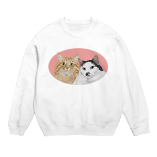kinako-japanの猫社長さん 猫専務さん ピンク Sweats