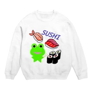 お寿司を楽しむカエルくん Sweats