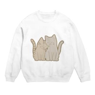 仲良し猫 キジトラ&灰 Sweats